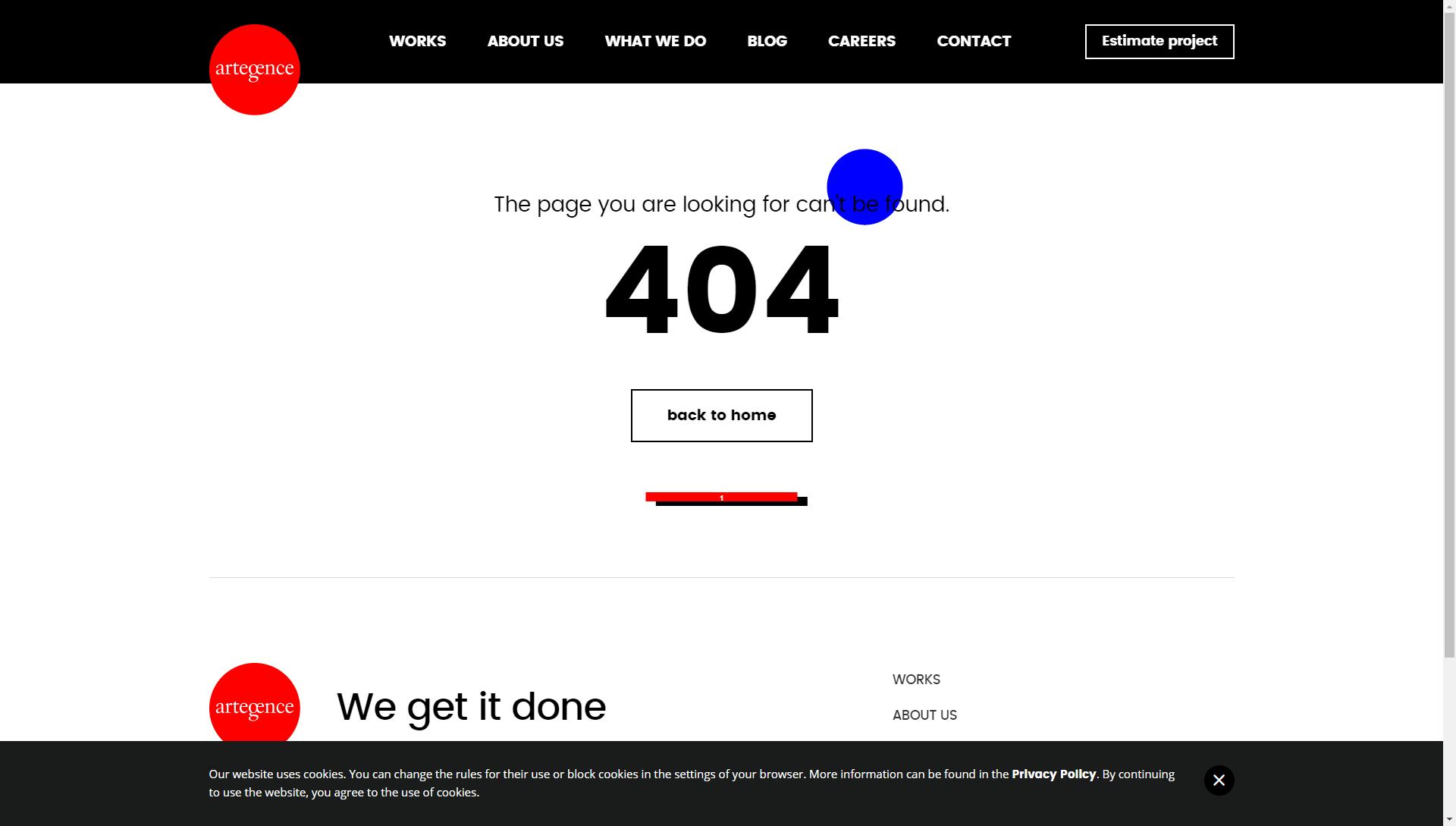 Good 404 example