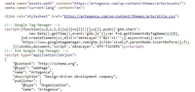 Google Tag Manger Code