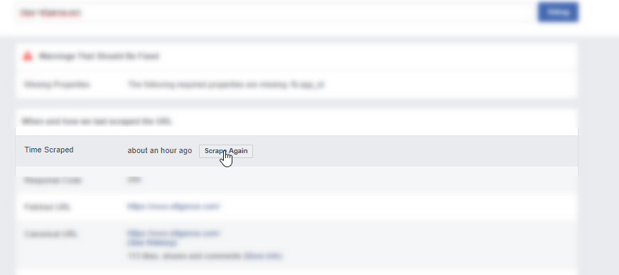 Getting new data in FB Debugger