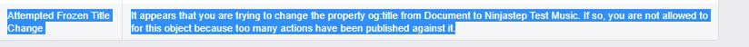 Facebook OG debugger info