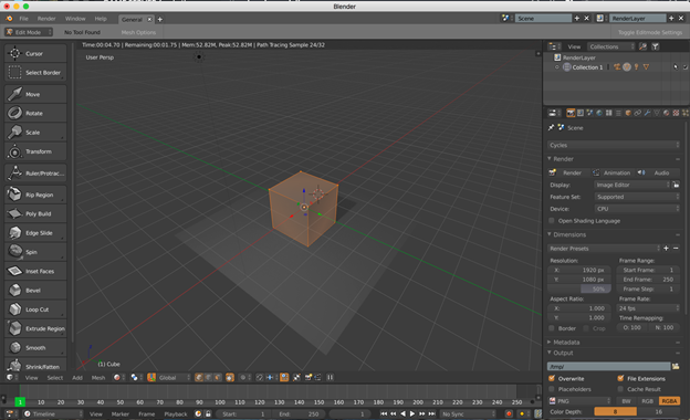 Screen from design software and 3D object