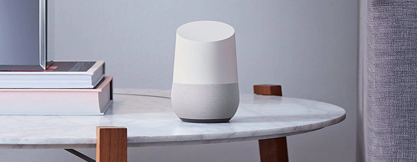 Google Home Personal Assistant on the table